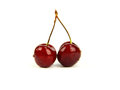 Pair of fresh cherry Stock Photo