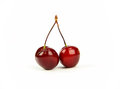 Pair of fresh cherry Royalty Free Stock Photos