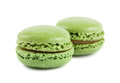 Pair of green macaroons Stock Photography