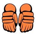 A pair of hockey gloves icon, icon cartoon