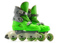A pair of inline skates  on white Royalty Free Stock Photography