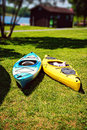 A pair of kayaks Royalty Free Stock Photo