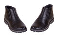 The pair of male black winter shoes Royalty Free Stock Images