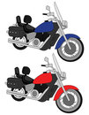 Pair of Motorcycles vector Stock Photography