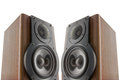 Pair of music speakers Stock Photos