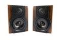 Pair of music speakers Royalty Free Stock Photo