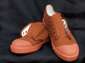 Pair of new canvas shoes brown Royalty Free Stock Photos