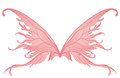 Pair of pink fairy wings Stock Photos