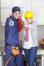 Pair of plumbers Royalty Free Stock Photo