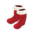 Pair of red christmas socks Royalty Free Stock Image