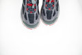 Pair of sport shoes directly above on white Royalty Free Stock Photography