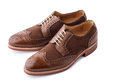 Pair of two tone men brogues Royalty Free Stock Photo