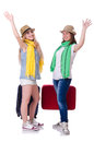 Pair of young students travelling Stock Photography