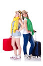 Pair of young students travelling Stock Image