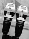 Paired parking meter Stock Photo