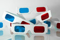 Pairs of 3D glasses Stock Photography