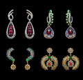 Pairs of earrings Stock Images