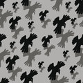 Pairs of the flying crows seamless background with Stock Photos