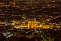 Paris by Night-  Aerial View Royalty Free Stock Photo
