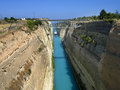 Paisagem do canal de corinth em greece Fotografia de Stock