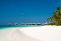 Paisaje tropical de la playa de los maldivas Fotografía de archivo