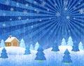 Paisajes del invierno Foto de archivo