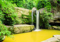Paisitong waterfall golden bamboo waterfall in phitsanulok thai new natural tourist attraction phisanulok thailand Royalty Free Stock Photography