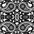 Paisley background abstract seamless texture art illustration Stock Photos