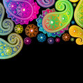 Paisley Color Designs. Royalty Free Stock Photo
