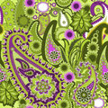 Paisley colorful background seamless pattern vector illustration Royalty Free Stock Photography