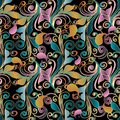 Paisley Colorful Floral Seamle...