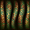 Paisley curtain background Royalty Free Stock Photo