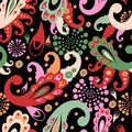 Paisley  elements seamless pattern Stock Photo