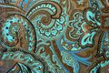 Layered paisley pattern Royalty Free Stock Photo