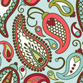 Paisley pattern vector seamless orient Stock Images