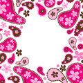 Paisley pink frame Stock Photography