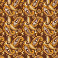 Paisley seamless background beautiful this is file of eps format Royalty Free Stock Photos
