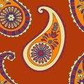 Paisley seamless background beautiful orange Royalty Free Stock Photos