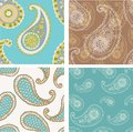 Paisley seamless background beautiful set of Stock Images