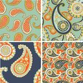 Paisley seamless background beautiful set of Stock Image