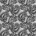 Paisley seamless lace pattern Royalty Free Stock Photo