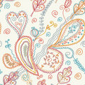 Paisley seamless ornate pattern Stock Photo