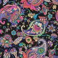 Modern seamless paisley pattern. Based on the traditions of oriental patterns