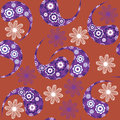 Paisley seamless pattern and seamless pattern in s swatch menu oriental can be used for wallpapers Stock Images