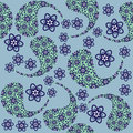 Paisley seamless pattern and seamless pattern in swatch m menu oriental can be used for wallpapers Royalty Free Stock Image