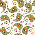 Paisley seamless pattern and seamless pattern in swatch m menu oriental can be used for wallpapers Stock Images