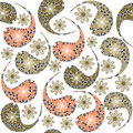 Paisley seamless pattern and seamless pattern in swatch m menu oriental can be used for wallpapers Royalty Free Stock Images