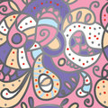 Paisley seamless pattern for silk textile Stock Photography