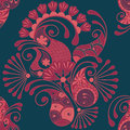 Paisley seamless pattern ukrainian traditional style Stock Image