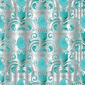 Paisley seamless pattern. Vector silver floral background with p Royalty Free Stock Photo